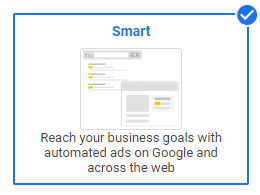 Google Ads Smart Campaigns set up